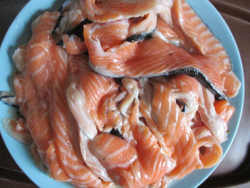 Как солить брюшки лосося в домашних условиях